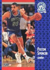 1991-92 Fleer Tony's Pizza #101 Felton Spencer