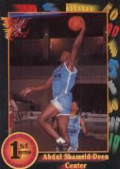 1991-92 Wild Card #8 Abdul Shamsid-Deen