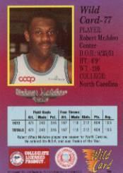 1991-92 Wild Card #77 Bob McAdoo back image