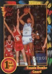 1991-92 Wild Card #89 Fennis Dembo