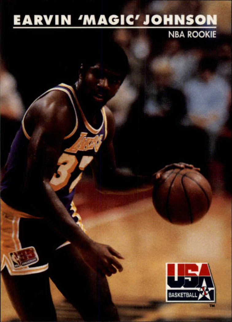 Details About 1992 Skybox Usa Los Angeles Lakers Basketball Card 29 Magic Johnsonnba Rookie