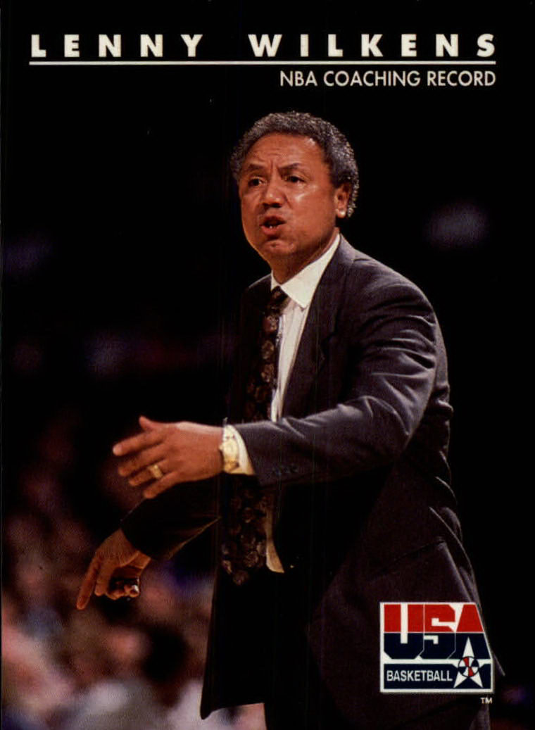 1992 SkyBox USA #98 Lenny Wilkens CO/NBA Coaching Record
