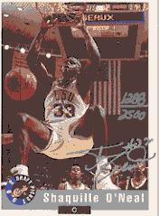 1992 Classic #NNO1 Shaquille O'Neal AU/2500