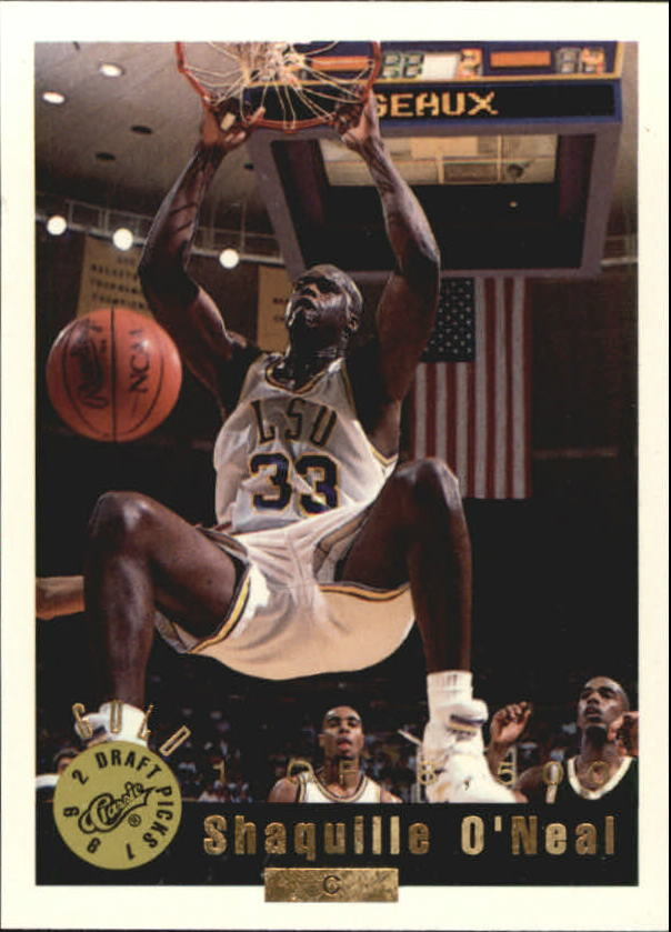 1992 Classic Gold #1 Shaquille O'Neal