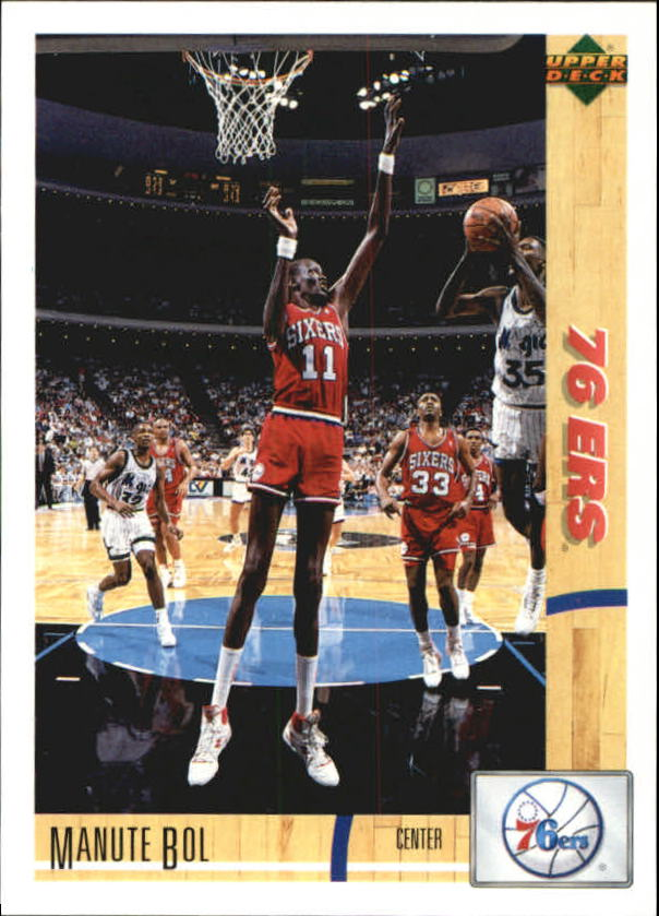 0f1ad6ecd 1991-92 Upper Deck International Italian 76ers Basketball Card  80 Manute  Bol