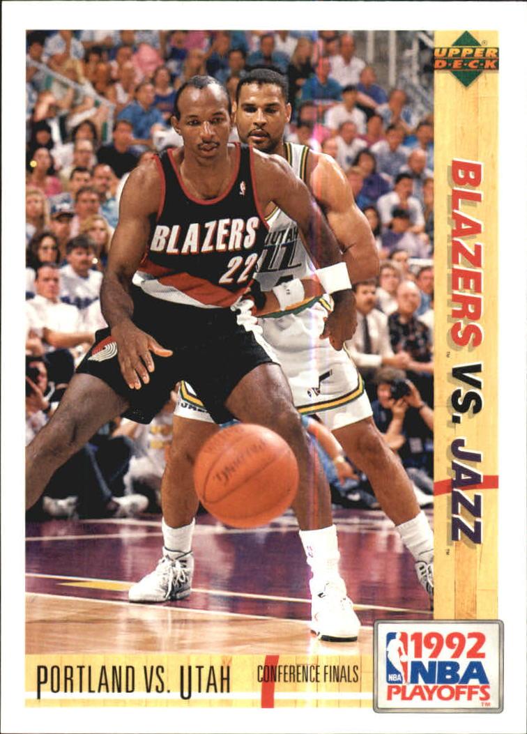 1991-92 Upper Deck International Italian #171 Clyde Drexler/Jeff Malone PO