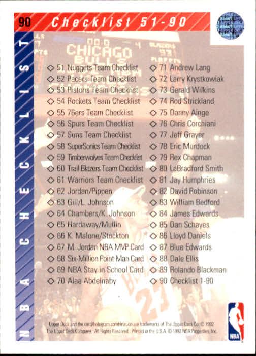 1992-93 Upper Deck #90 Michael Jordan CL back image