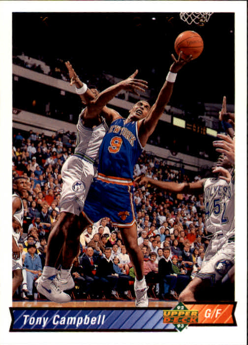 1992-93 Upper Deck #392 Tony Campbell