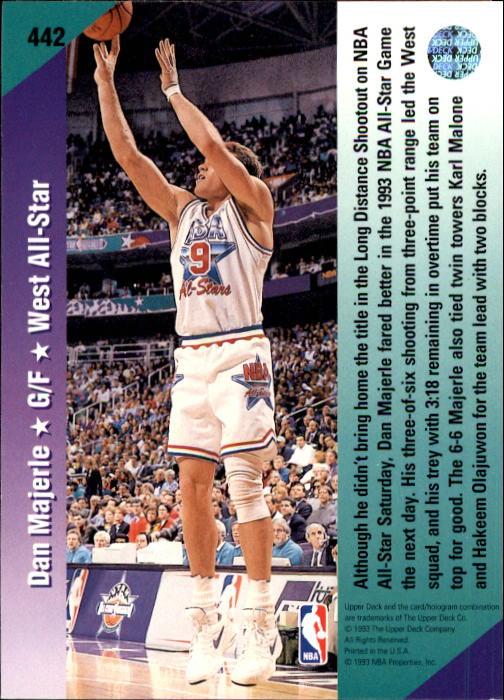 1992-93 Upper Deck #442 Dan Majerle AS back image