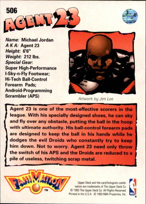 1992-93 Upper Deck #506 Michael Jordan FAN back image