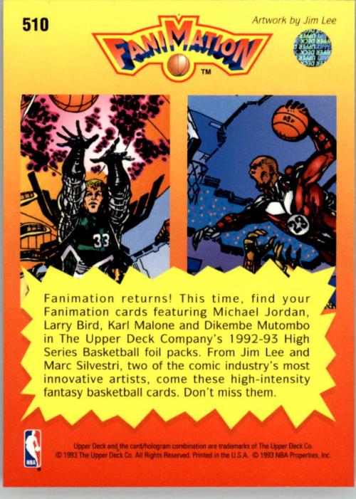 1992-93 Upper Deck #510 Larry Bird FAN/Michael Jordan back image