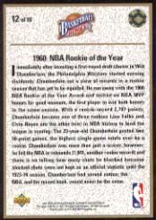 1992-93 Upper Deck Wilt Chamberlain Heroes #12 Wilt Chamberlain back image