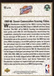 1992-93 Upper Deck Wilt Chamberlain Heroes #15 Wilt Chamberlain back image