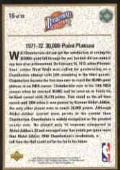 1992-93 Upper Deck Wilt Chamberlain Heroes #16 Wilt Chamberlain back image