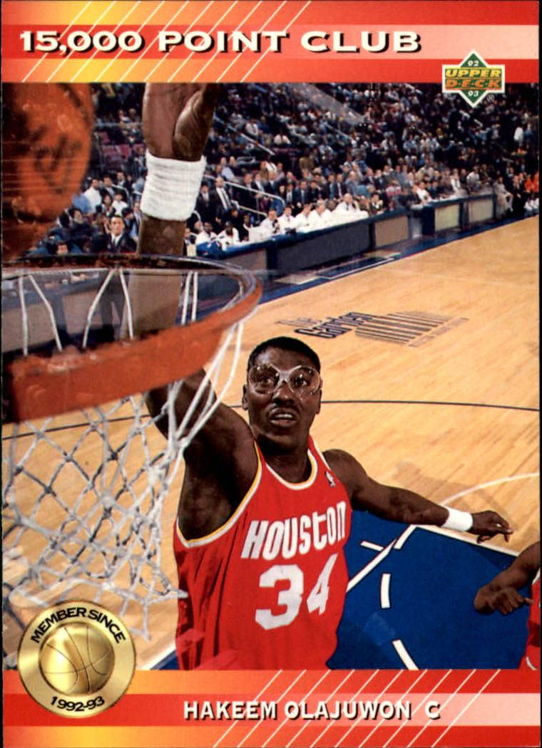1992-93 Upper Deck 15000 Point Club #PC20 Hakeem Olajuwon