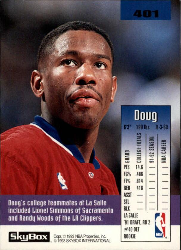 1992-93 SkyBox #401 Doug Overton back image