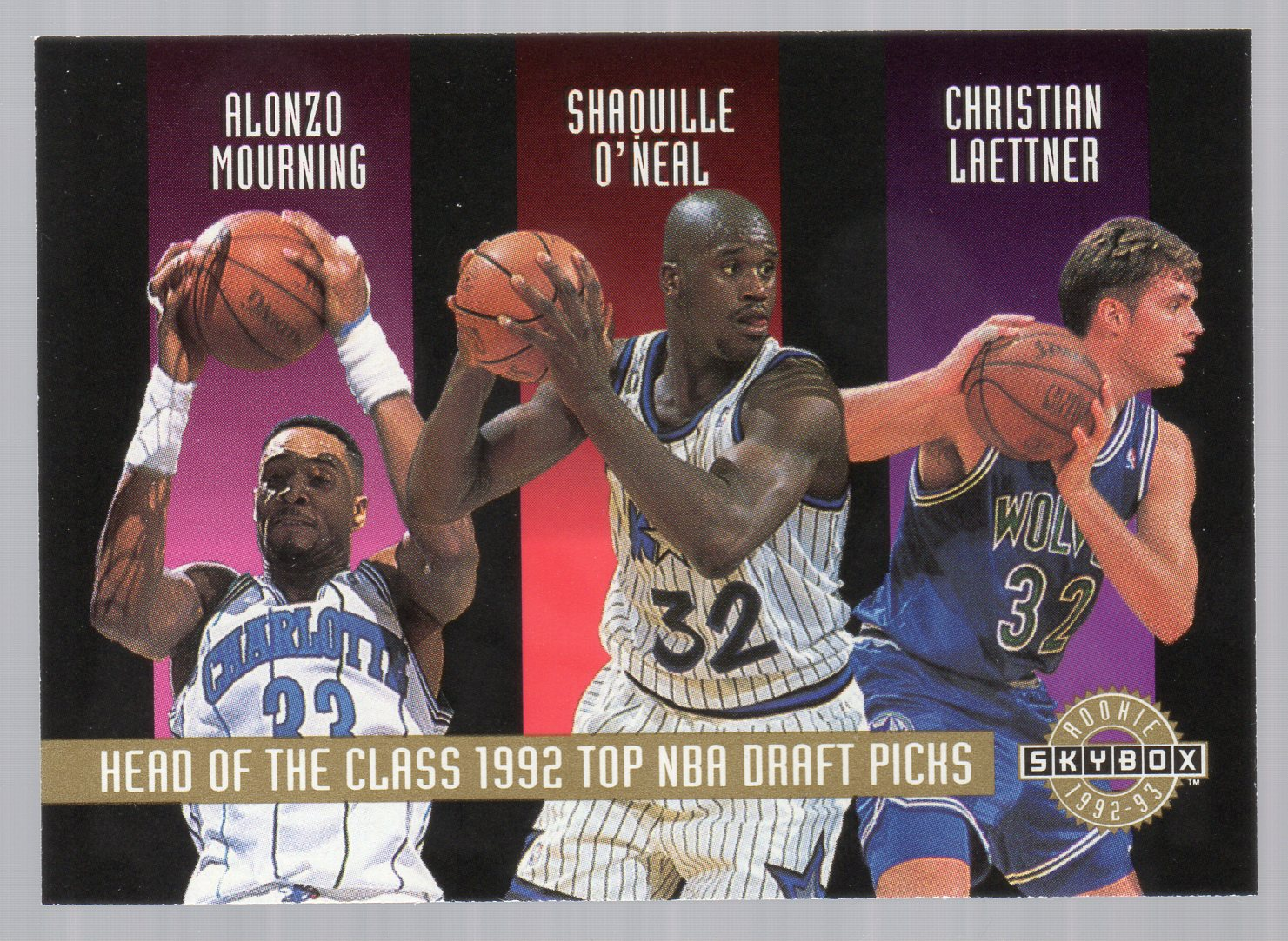 1992-93 SkyBox #NNO Head of the Class/LaPhonso Ellis/Tom Gugliotta/Christian Laettner/Alonzo Mourning/Shaquille O'Neal/Walt Williams