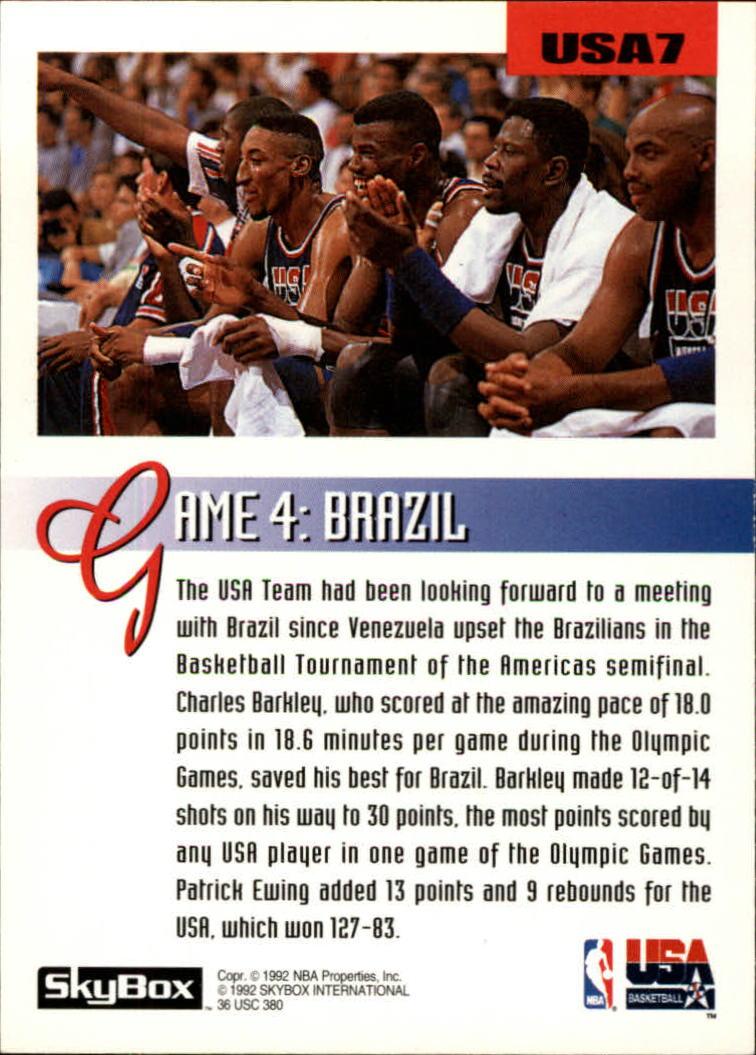 1992-93 SkyBox Olympic Team #USA7 Charles Barkley back image