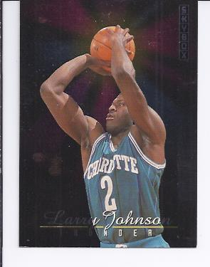 1992-93 SkyBox Thunder and Lightning #TL5 Larry Johnson/Muggsy Bogues