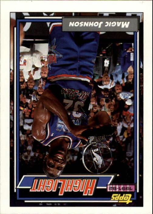 1992-93 Topps #2 Magic Johnson HL/Earvin's Magical Moment 2/9/92