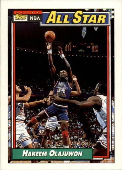 1992-93 Topps #105 Hakeem Olajuwon AS