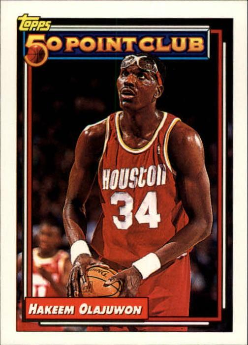 1992-93 Topps #214 Hakeem Olajuwon 50P