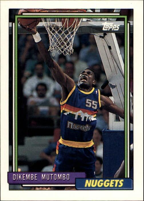 1992-93 Topps #281 Dikembe Mutombo