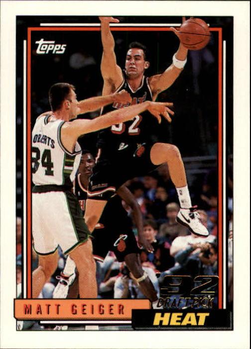 1992-93 Topps #322 Matt Geiger RC