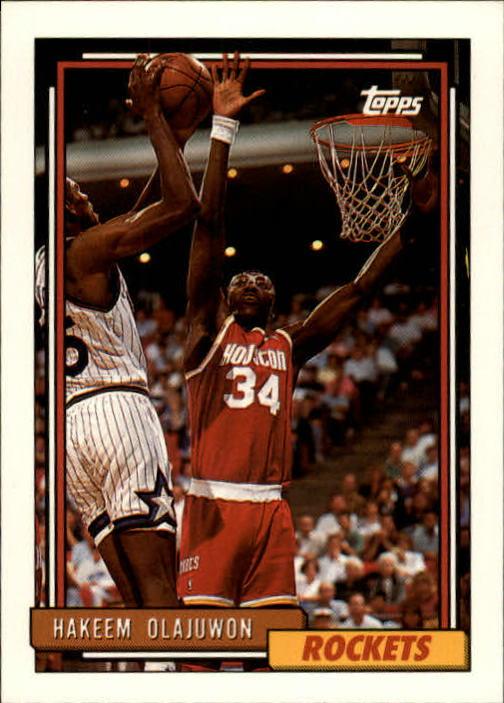 1992-93 Topps #337 Hakeem Olajuwon