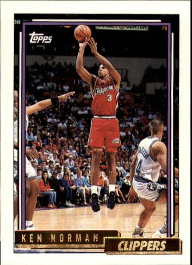 1992-93 Topps Gold #7 Ken Norman