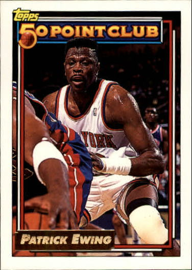 1992-93 Topps Gold #211 Patrick Ewing 50P
