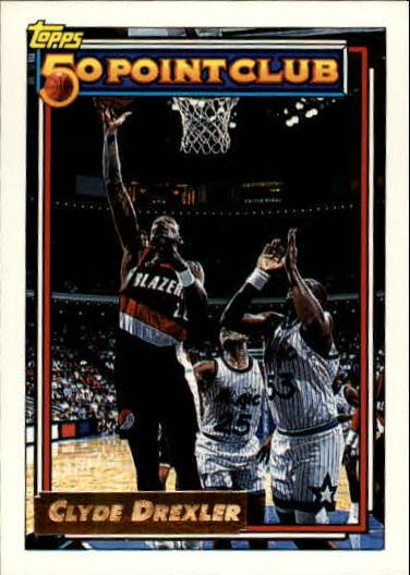 1992-93 Topps Gold #212 Clyde Drexler 50P
