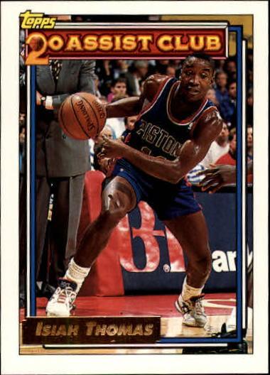 1992-93 Topps Gold #219 Isiah Thomas 20A