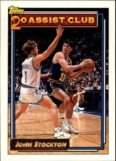1992-93 Topps Gold #223 John Stockton 20A
