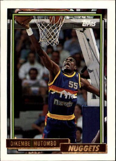 1992-93 Topps Gold #281 Dikembe Mutombo