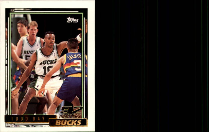 1992-93 Topps Gold #284 Todd Day