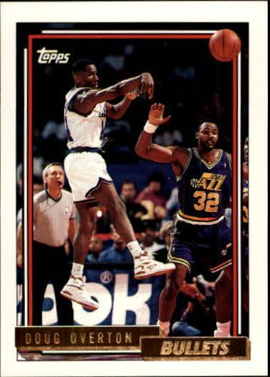 1992-93 Topps Gold #317 Doug Overton