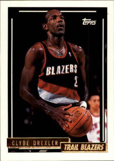 1992-93 Topps Gold #354 Clyde Drexler