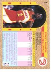 1992-93 Fleer #1 Stacey Augmon back image