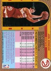 1992-93 Fleer #4A Jon Koncak#(Shooting pose on back back image