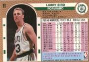 1992-93 Fleer #11 Larry Bird back image