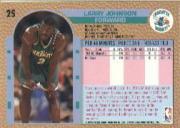 1992-93 Fleer #25 Larry Johnson back image