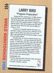 1992-93 Fleer #256 Larry Bird SY back image