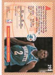 1992-93 Fleer #292 Larry Johnson SD back image