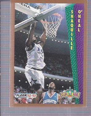 1992-93 Fleer #298 Shaquille O'Neal SD