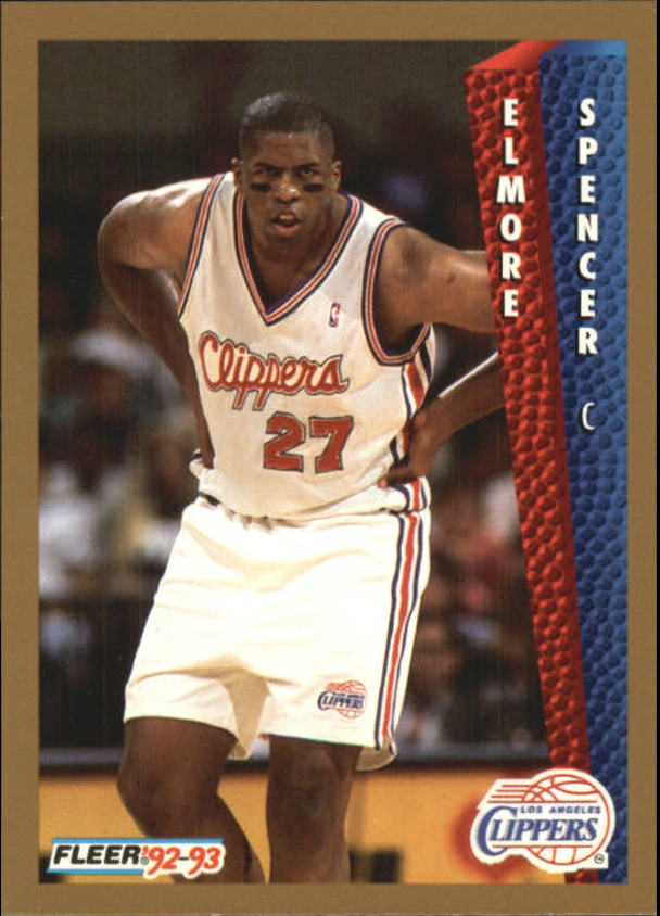 1992-93 Fleer #358 Elmore Spencer RC