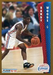 1992-93 Fleer #361 Randy Woods RC