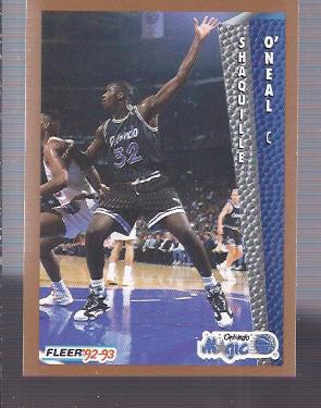 1992-93 Fleer #401 Shaquille O'Neal RC