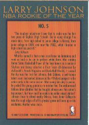 1992-93 Fleer Larry Johnson #5 Larry Johnson back image