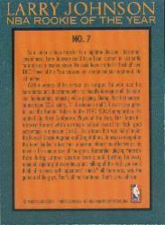 1992-93 Fleer Larry Johnson #7 Larry Johnson back image